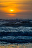Blue Sunset Waves